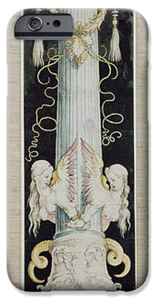 Design iPhone Cases - The Great Column, C.1515 Pen And Ink And Wash On Paper iPhone Case by Albrecht Durer or Duerer