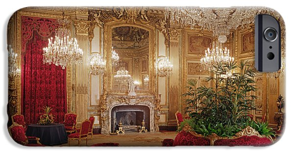 Saloons iPhone Cases - The Great Drawing Room Of The Napoleon Iii Apartments, C.1861 Colour Photo iPhone Case by .