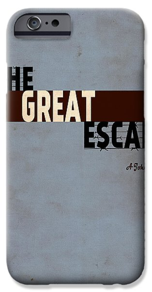 Steve Mcqueen iPhone Cases - The Great Escape iPhone Case by Ayse Deniz