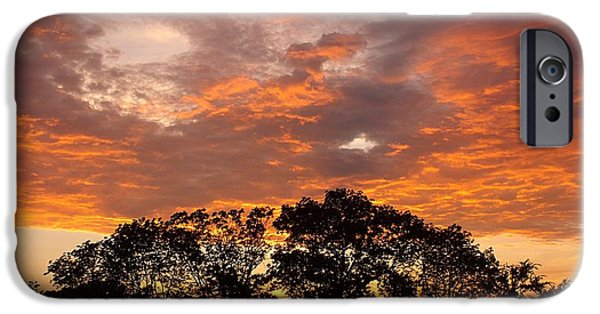 Unset iPhone Cases - The Great Fire Dragon iPhone Case by David Addams