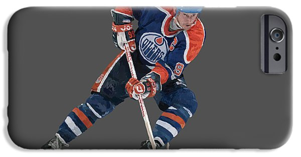 Wayne Gretzky iPhone Cases - Gretzky iPhone Case by Charley Pallos