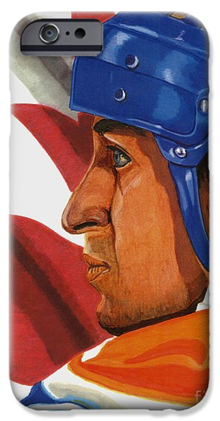 Wayne Gretzky iPhone Cases - The Great One iPhone Case by Cory Still
