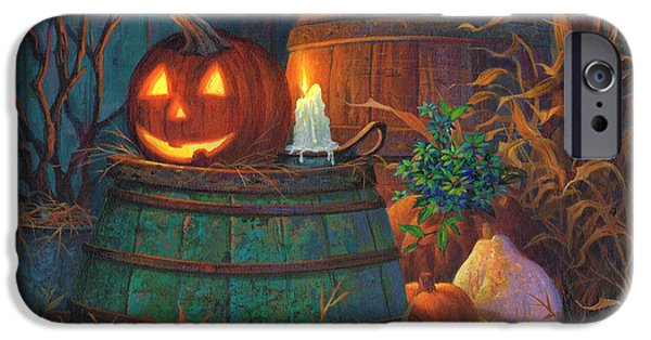 Michael Paintings iPhone Cases - The Great Pumpkin iPhone Case by Michael Humphries