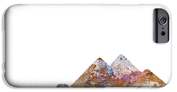 Egypt iPhone Cases - The Great Pyramids Colorsplash iPhone Case by Aimee Stewart