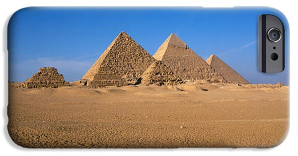 East Africa Photographs iPhone Cases - The Great Pyramids Giza Egypt iPhone Case by Panoramic Images
