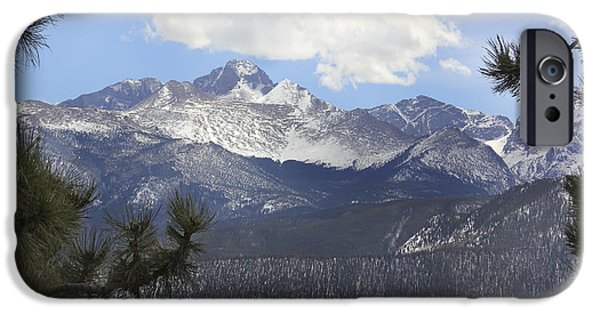 Mountain Digital Art iPhone Cases - The Rocky Mountains - Colorado iPhone Case by Mike McGlothlen
