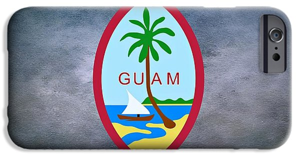 Famine iPhone Cases - The Great Seal of Guam Territory of USA  iPhone Case by Movie Poster Prints