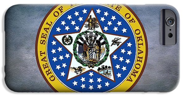 Oak Creek iPhone Cases - The Great Seal of the State of Oklahoma iPhone Case by Movie Poster Prints