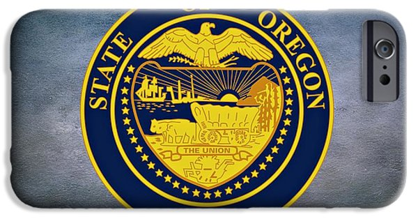 Constitution iPhone Cases - The Great Seal of the State of Oregon  iPhone Case by Movie Poster Prints