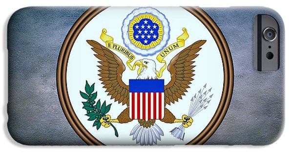Business Digital Art iPhone Cases - The Great Seal of the United States  iPhone Case by Movie Poster Prints
