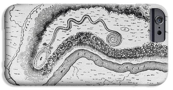 Serpent iPhone Cases - The Great Serpent Mound, Near Locust Grove, Ohio, 2nd Century Bc, From Narrative And Critical iPhone Case by English School