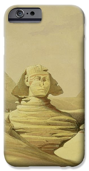 The Great Sphinx and the Pyramids of Giza iPhone Case by David Roberts