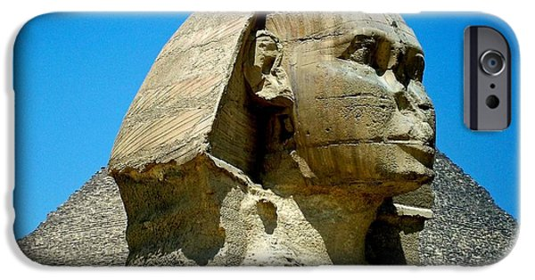 Built Structure iPhone Cases - The  Great Sphinx iPhone Case by Lynn R Morris