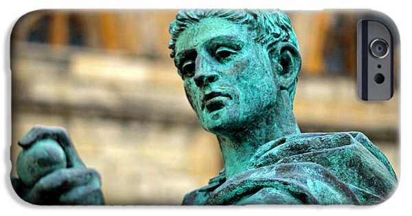 Statue Portrait iPhone Cases - The Great Statue iPhone Case by Chris Whittle