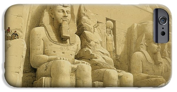 Remnant iPhone Cases - The Great Temple of Abu Simbel iPhone Case by David Roberts