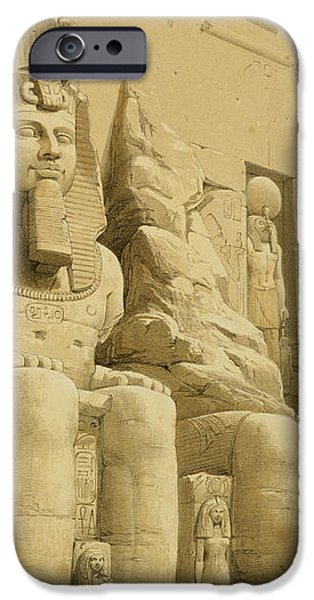 The Great Temple of Abu Simbel iPhone Case by David Roberts