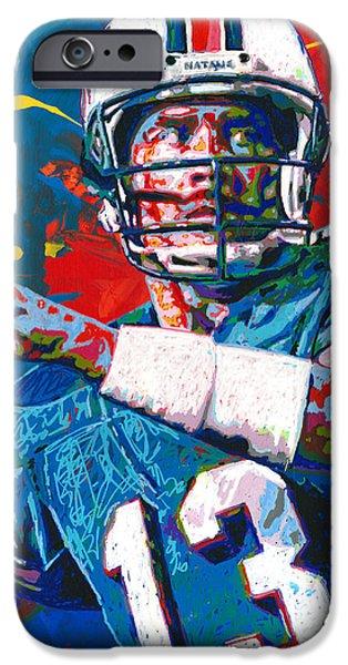 Dan Marino iPhone Cases - The Greatest Dolphin iPhone Case by Maria Arango