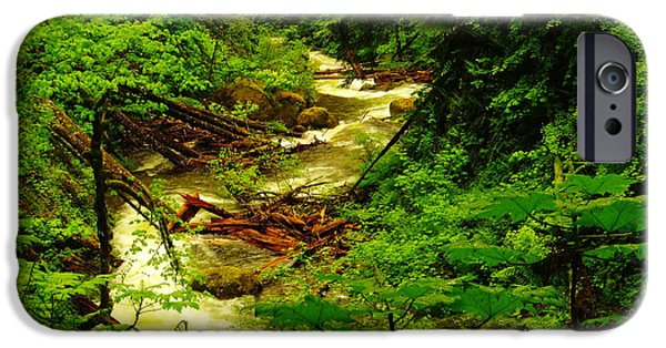 River View iPhone Cases - The Green And Water Winding Through My Dreams iPhone Case by Jeff  Swan