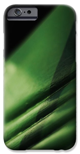 Emerald Green iPhone Cases - The Green Chair iPhone Case by Rebecca Sherman