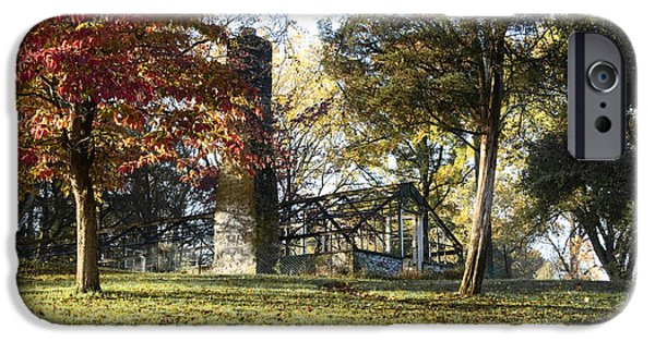 Fall iPhone Cases - The Green House at Valley Forge iPhone Case by Bill Cannon