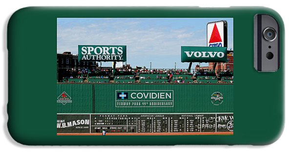 Fenway Park iPhone Cases - The green monster 99 iPhone Case by Tom Prendergast