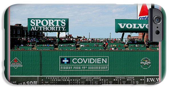 Boston Red Sox Digital Art iPhone Cases - The Green Monster Fenway Park iPhone Case by Tom Prendergast