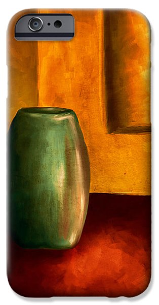 The Green Urn iPhone Case by Brenda Bryant