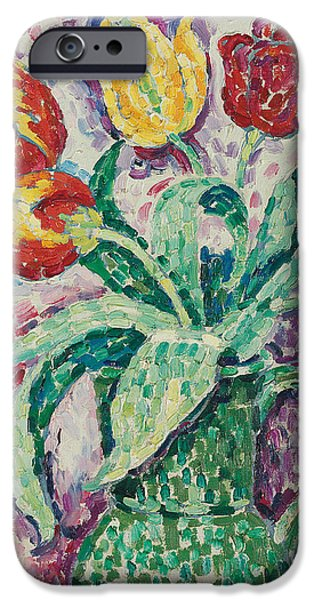 Tasteful Art iPhone Cases - The Green Vase iPhone Case by Paul Signac