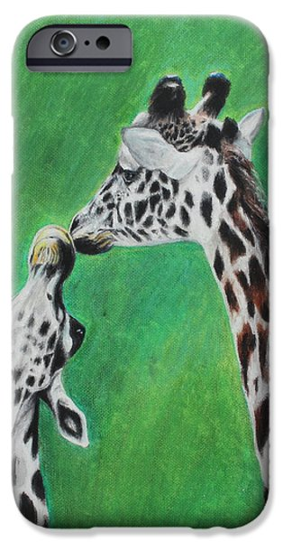 Bonding Pastels iPhone Cases - The Greeting iPhone Case by Jeanne Fischer