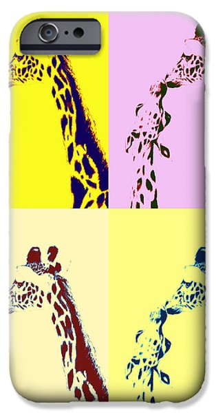Relationship Pastels iPhone Cases - The Greeting Pop Art iPhone Case by Jeanne Fischer