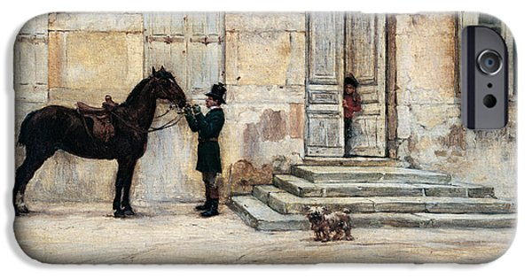 The Horse iPhone Cases - The Groom  iPhone Case by Giuseppe De Nittis