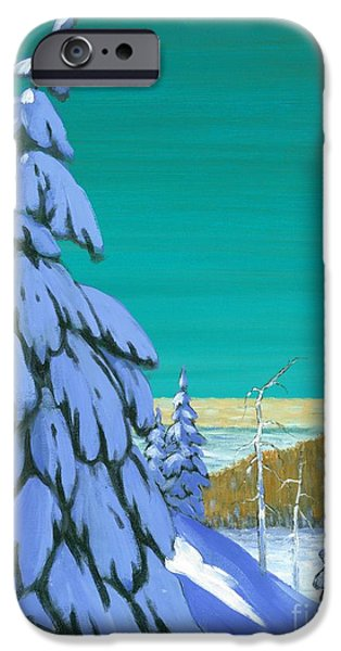 Michael Swanson iPhone Cases - Blue Mountain High iPhone Case by Michael Swanson