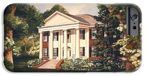 Hermitage Plantation iPhone Cases - The Grove Tallahassee Florida iPhone Case by Audrey Peaty