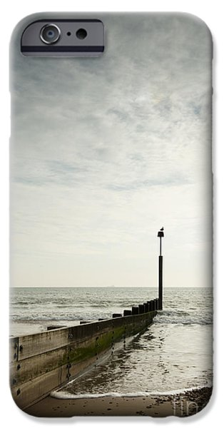 Incoming Tide iPhone Cases - The Groyne iPhone Case by Anne Gilbert