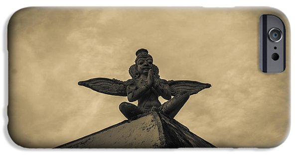 History Reliefs iPhone Cases - The Guardian Angle iPhone Case by Gouravmoy Mohanty
