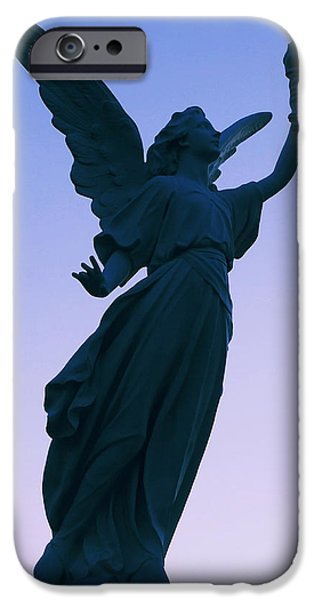 Headstones iPhone Cases - The Guardian iPhone Case by Joann Vitali
