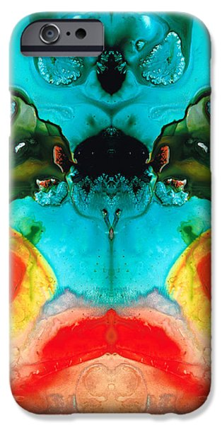 Guardian iPhone Cases - The Guardians - Visionary Art By Sharon Cummings iPhone Case by Sharon Cummings