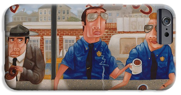 Donuts iPhone Cases - The Guilty Guy 1993 iPhone Case by Larry Preston