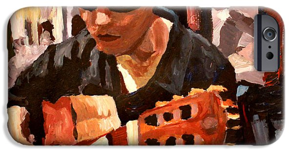 Gitarre iPhone Cases - The Guitar Player from the Matrix iPhone Case by M Bleichner
