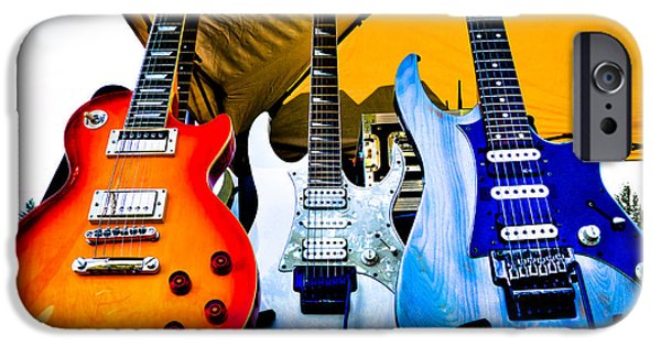 The Kingpins iPhone Cases - The guitars of Jimmy Dence - The Kingpins iPhone Case by David Patterson