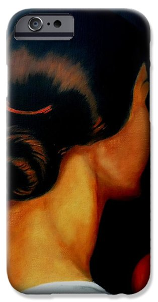 Duchess iPhone Cases - The Hair   iPhone Case by Manuel Sanchez