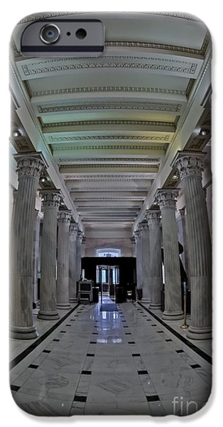 States iPhone Cases - The Hall of Columns iPhone Case by Susan Candelario