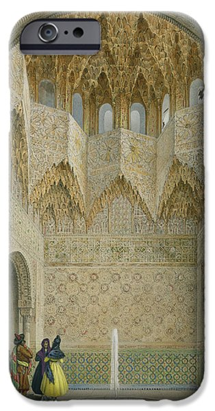 Orientalists iPhone Cases - The Hall Of The Abencerrages iPhone Case by Leon Auguste Asselineau
