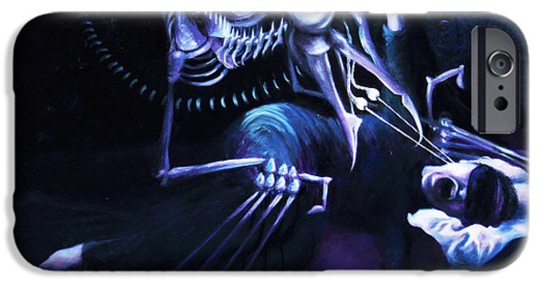 Spiritual Portrait Of Woman iPhone Cases - The Hallucinator iPhone Case by Shelley  Irish