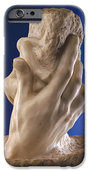 Power iPhone Cases - The Hand Of God, 1898 Marble iPhone Case by Auguste Rodin