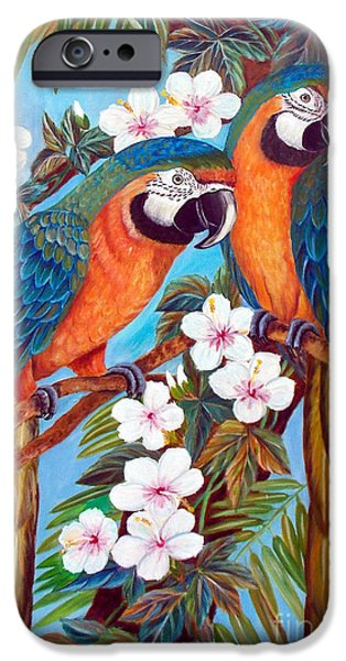Recently Sold -  - Sea Birds iPhone Cases - The Harlequin  iPhone Case by To-Tam Gerwe