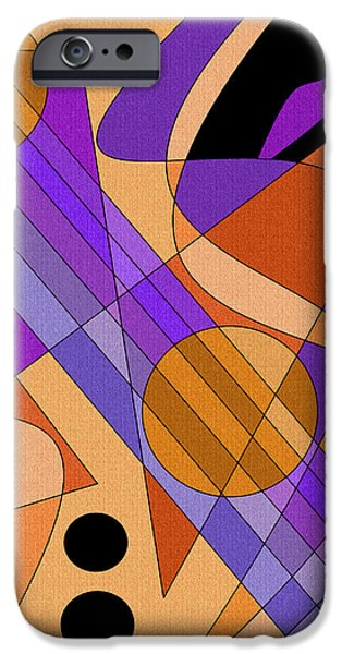 Business Digital Art iPhone Cases - The Harpist iPhone Case by Val Arie