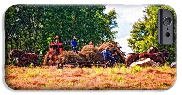 Amish Photographs iPhone Cases - The Harvest impasto iPhone Case by Steve Harrington