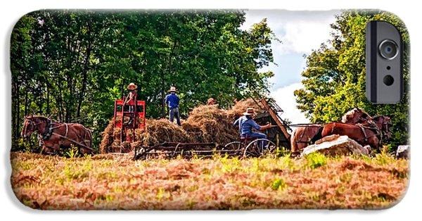 Amish Photographs iPhone Cases - The Harvest iPhone Case by Steve Harrington