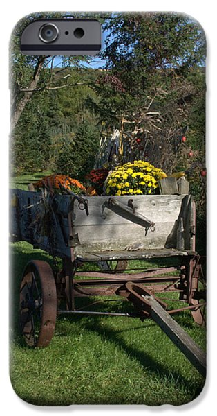 Antiques Jewelry iPhone Cases - The Harvest Wagon iPhone Case by BGR Photography